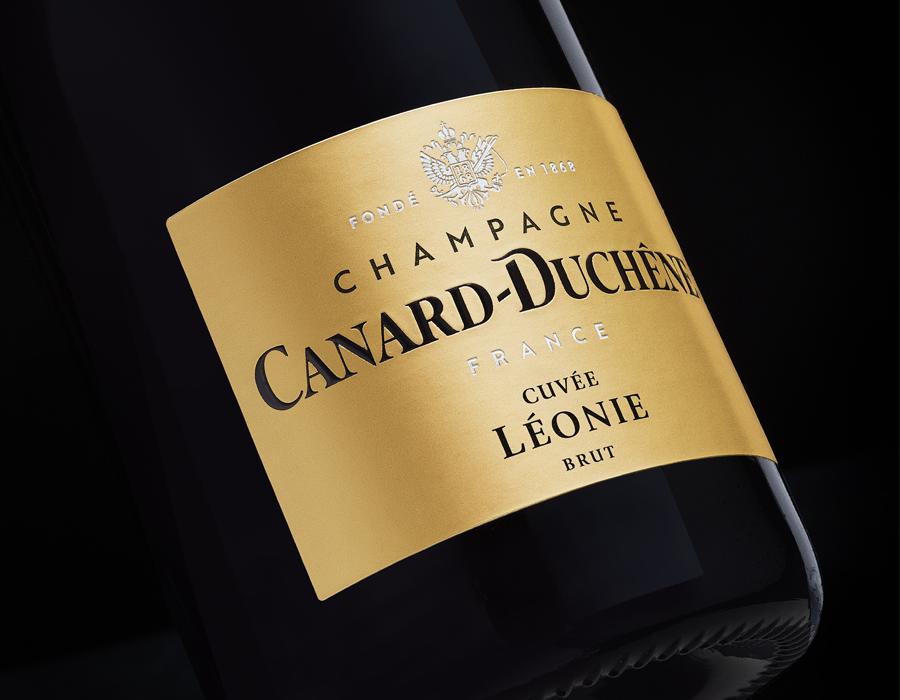 Etiquette de Champagne Léonie brut Canard-Duchêne